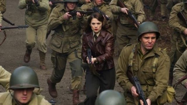 Brown Leather Jacket Worn By Peggy Carter Hayley Atwell As Seen In Captain America The First Avenger Spotern
