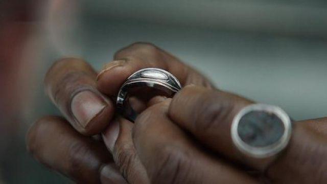 The ring royal of Erik Killmonger (Michael B. Jordan) in a Black Panther