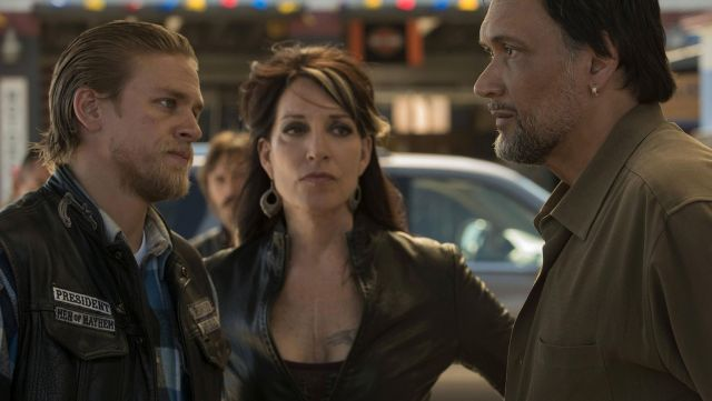 Leather Jacket worn by Gemma Teller Morrow (Katey Sagal) as seen in Sons of Anarchy S05E10