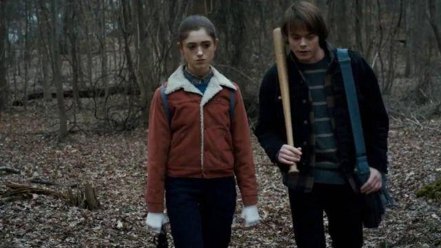 7d589a80c The jacket of Nancy Wheeler (Natalia Dyer) in Stranger Things S01E05 ...