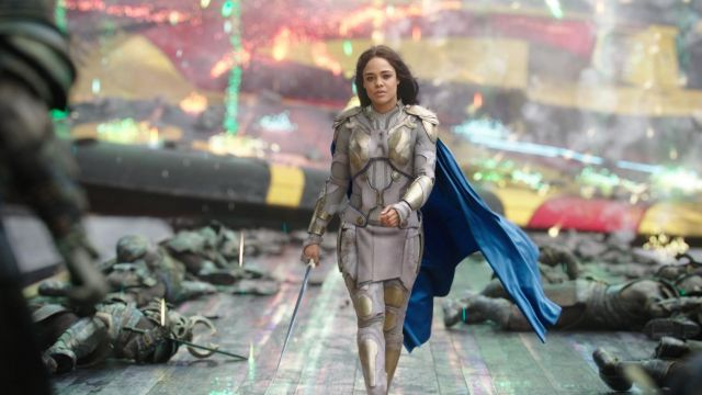 The sword and the dagger from Valkyrie (Tessa Thompson) in