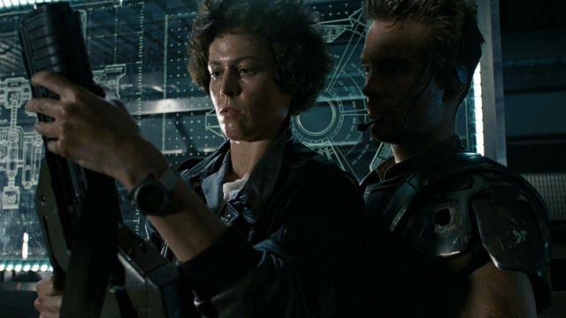 La montre Seiko x Giugiaro SCED035 de Ripley (Sigourney Weaver) dans Alien, le huitième passager