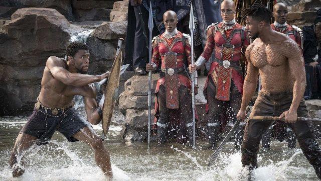 Erik Killmonger's (Michael B. Jordan) sword replica in Black Panther