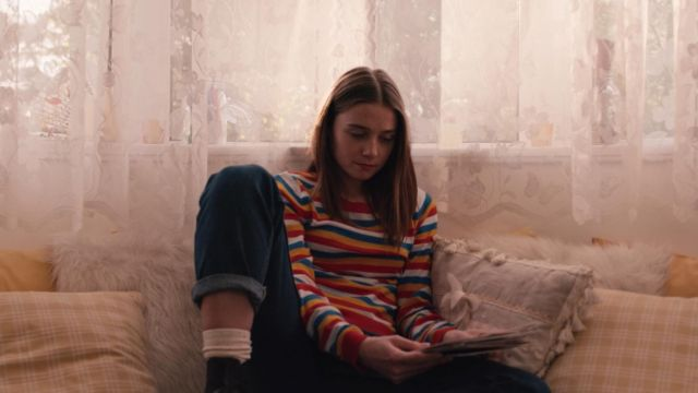 Striped sweater worn by Alyssa (Jessica Barden) as seen in The End of the F***ing World S01E01