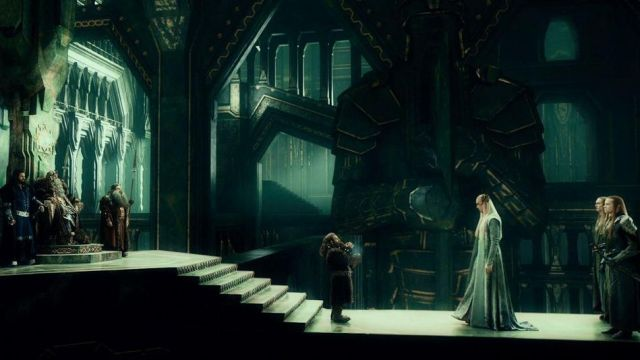 Le long costume de Thranduil (Lee Pace) dans Le Hobbit : Un voyage inattendu