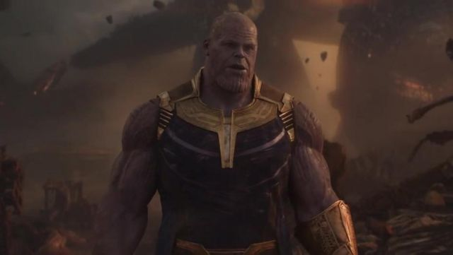 The mask of Thanos (Josh Brolin) in Avengers : Infinity War