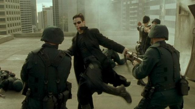 Leather Long Trench Coat worn by Neo (Keanu Reeves) as seen in The Matrix