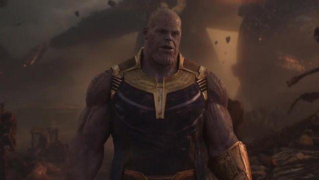 Thanos' (Josh Brolin) mask as seen in Avengers: Infinity War