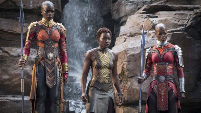 The costume Okoye (Danai Gurira) in Black Panther