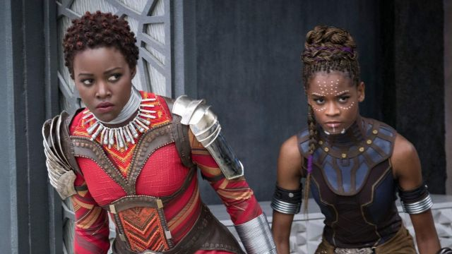 Shuri's (Letitia Wright) blue collar as seen in Black Panther