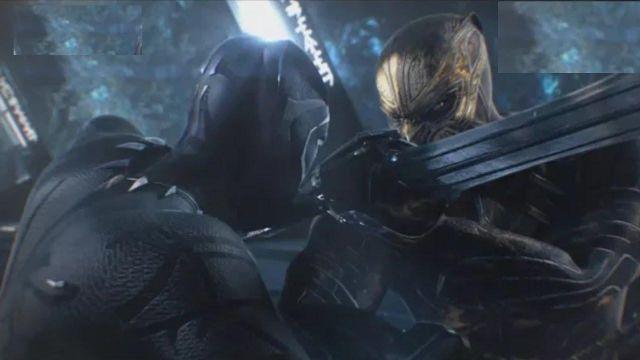 The sword of Erik Killmonger (Michael B. Jordan) in a Black Panther
