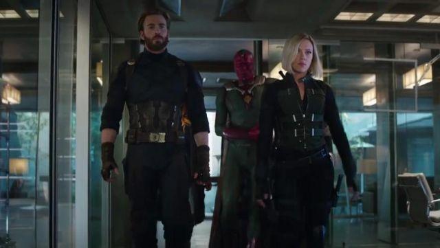 Black Widow's (Scarlett Johansson) costume as seen in Avengers: Infinity War