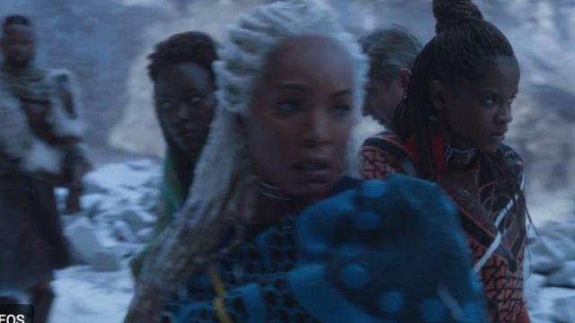Shuri's (Letitia Wright) Basotho orange blanket as seen in Black Panther