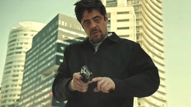 Black Jacket worn by Alejandro Gillick (Benicio Del Toro) as seen in Sicario 2: Day of the Soldado