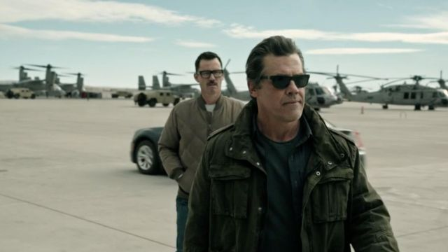 Khaki Military Style M65 Jacket worn by Matt Burn (Josh Brolin) as seen in Sicario 2: Day of the Soldado