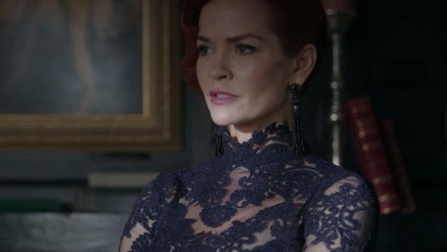 Black lace top worn by Penelope Blossom (Nathalie Boltt) in Riverdale S02E17