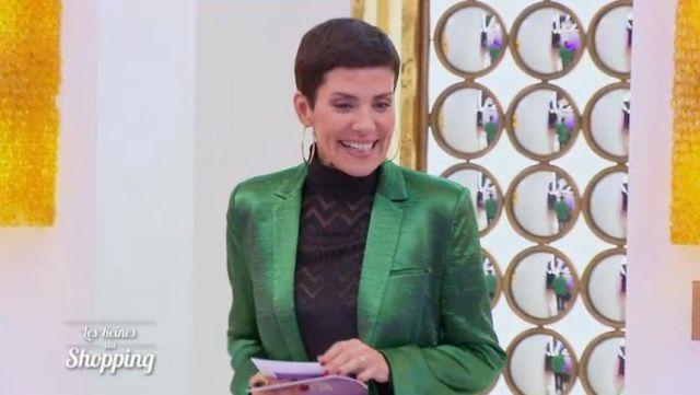 meilleur service 10f6d a6077 La veste blazer verte de Cristina Cordula dans #LRDS Les ...