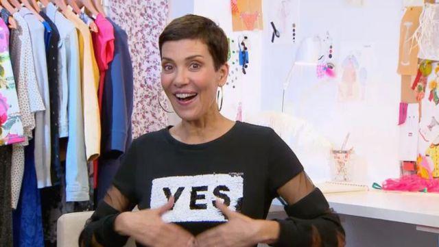 Le top (version robe) Yes No à sequins de Cristina Cordula dans #LRDS Les reines du shopping du 10/04/2018