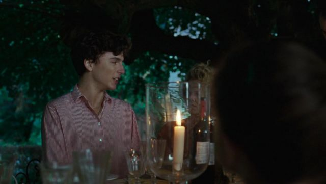 Stripped Shirt Worn By Elio Perlman Timothee Chalamet As Seen In Call Me By Your Name Spotern