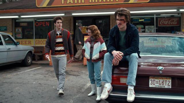 The Nike shoes of Steve Harrington (Joe Keery) in Stranger