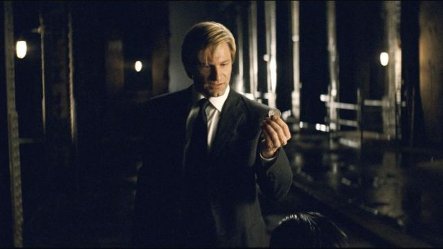 The coin of Harvey Dent (Aaron Eckhart) in The Dark Knight
