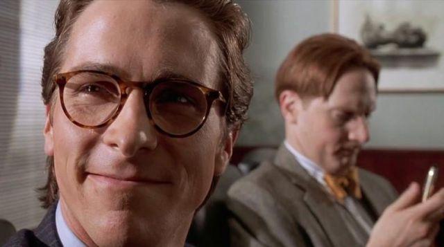 Les lunettes de vue Oliver Peoples de Patrick Bateman (Christian Bale) dans American Psycho