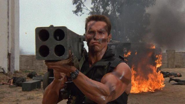 La montre de John Matrix (Arnold Schwarzenegger) dans Commando