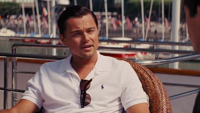Polo white Ralph Lauren of Jordan Belfort (Leonardo DiCaprio) in The wolf of Wall Street