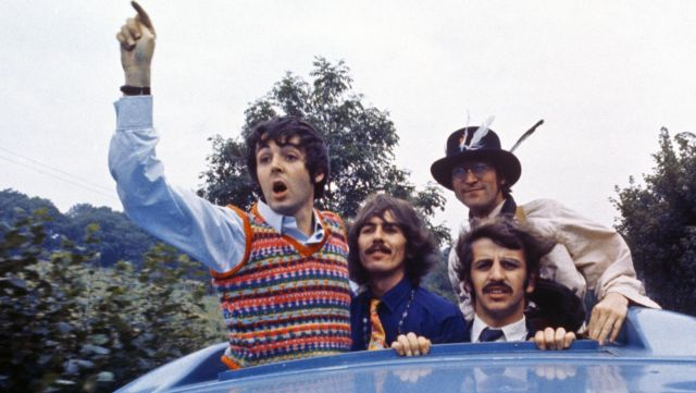 The knitted sweater vest worn by Paul McCartney as seen in Magical Mystery Tour of The Beatles