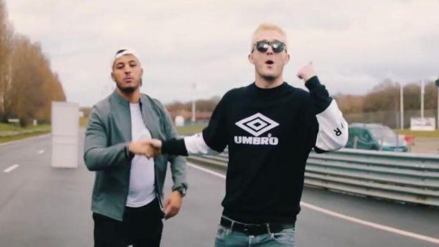 Le sweatshirt Umbro x Avnier de Vald dans son clip Valise