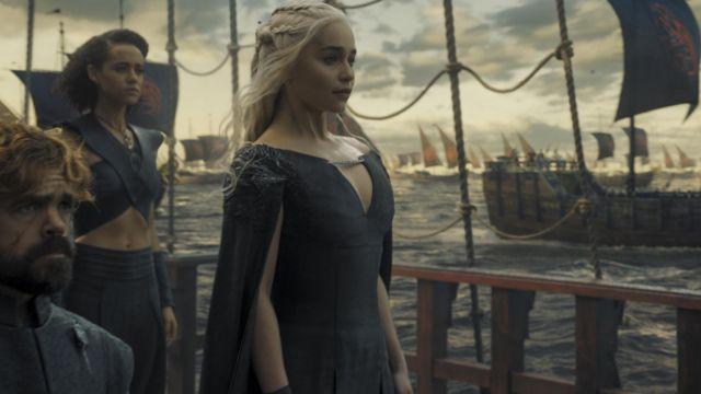Daenerys Targaryen's (Emilia Clarke) black dress as seen in Game of Thrones 7x04
