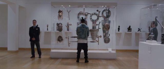 The trousers of Erik killmonger (Michael B. Jordan) in a Black Panther