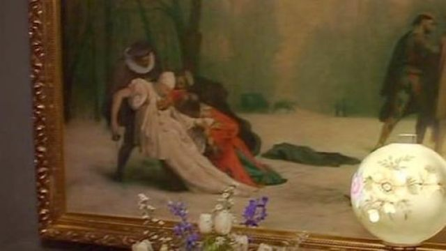 The table as a result of a masked ball by Jean-Léon Gérôme in The time of innocence