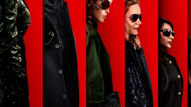 Sunglasses black oversize Marc Jacobs Amita (Mindy Kaling) on the poster of Ocean's 8