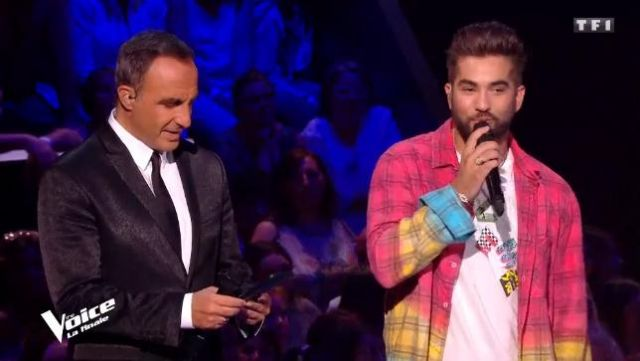 The t-shirt Love me by Kendji Girac in #TheVoice of the 12/05/2018
