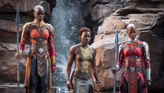Nakia's (Lupita Nyong'o) leather dress as seen in Black Panther