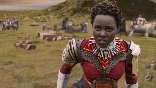 Na­kia's (Lu­pita Nyong'o) Dora Milaje full costume as seen in Black Pan­ther
