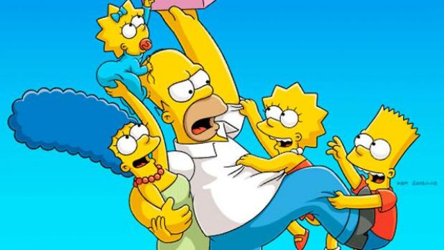 The wig Marge Simpson in the animated cartoon The simpsons