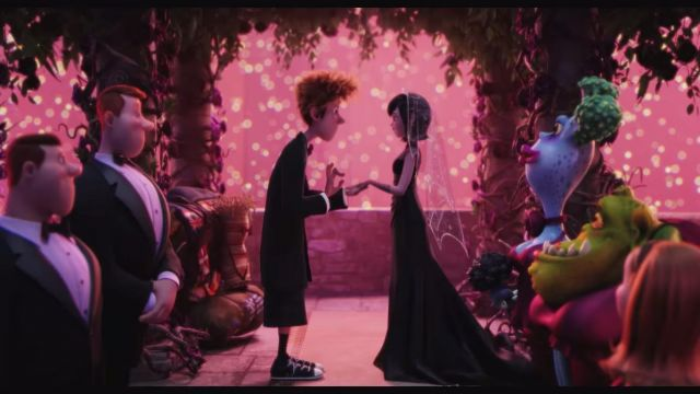 La robe de mariage noire de Mavis dans le film d'animation Hotel transylvanie