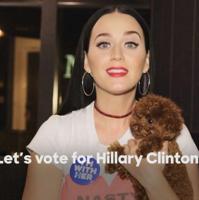The t-shirt Nasty Woman Katy Perry on photo Instagram
