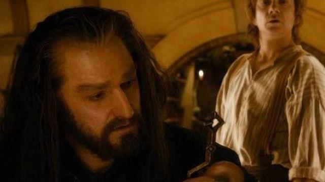 Thorin ecu de chêne (Richard Armitage) clé d'Erebor comme on le voit dans Le Hobbit