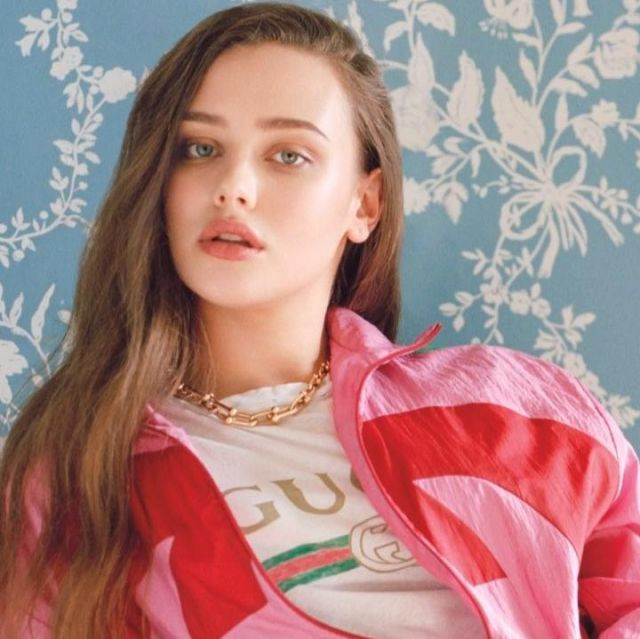 Tiffany & Co. Graduated Link Necklace worn by Katherine Langford for L'Officiel photoshoot on Instagram