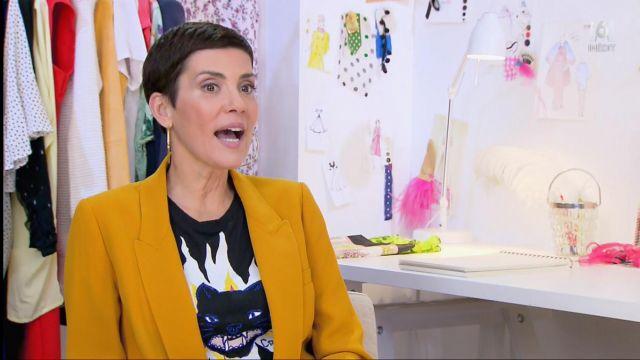 Le t-shirt chat de Cristina Cordula dans #LRDS Les reines du shopping du 01/06/2018