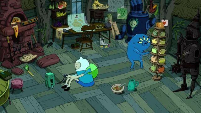 Le chapeau blanc de Finn dans Adventure Time S09E10