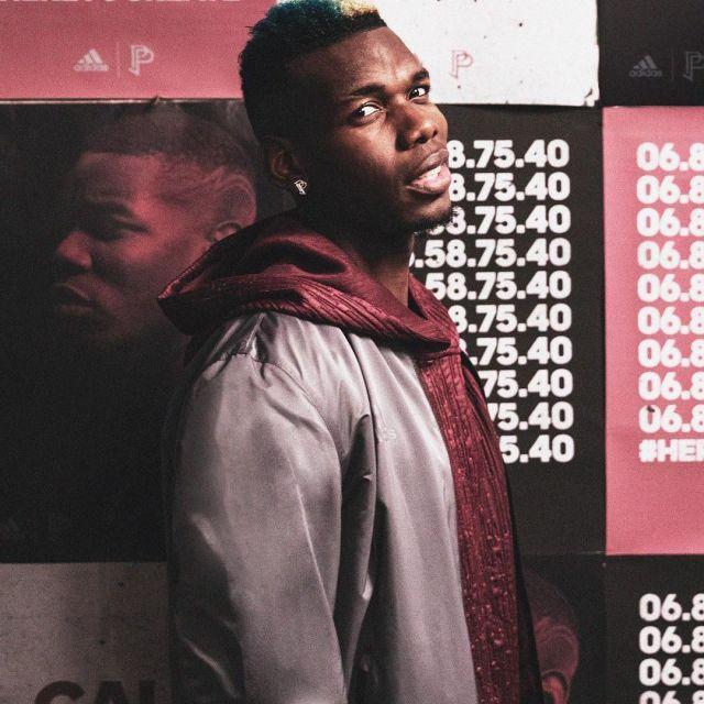 Le sweatshirt rouge PP x Adidas de Paul Pogba sur son compte
