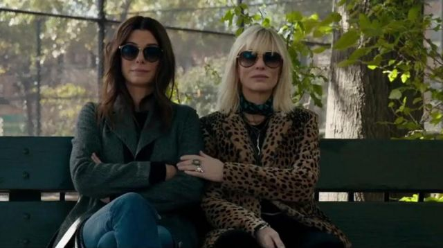 Le manteau motif léopard de Cate Blanchett (Lou) dans Ocean's 8