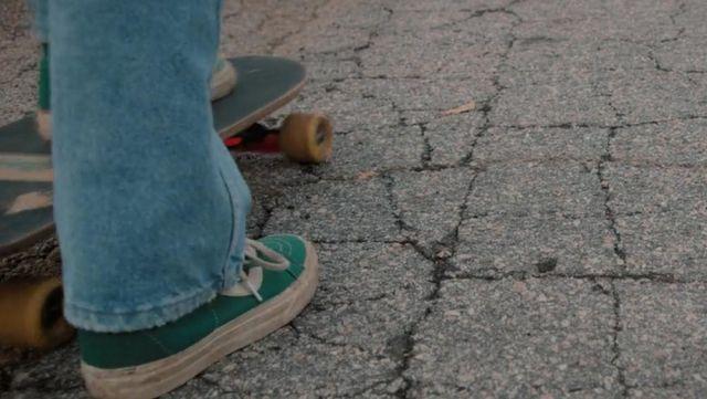 Green Sk8-Hi sneakers worn by Mad Max (Sadie Sink) as seen in Stranger Things S02E01