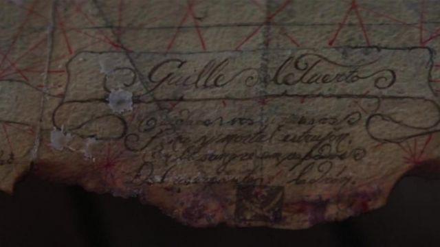 La carte qui mène au trésor de Willy Le Borgne dans Les Goonies