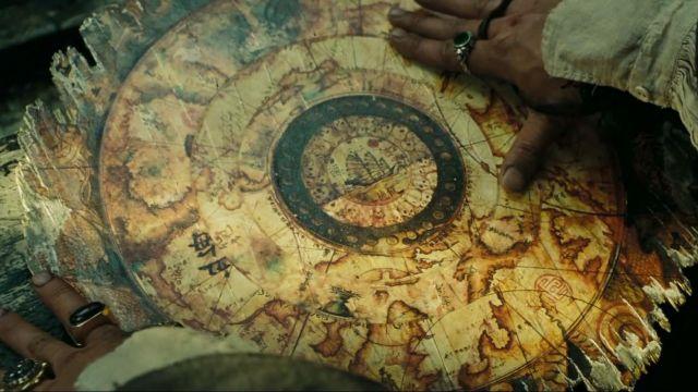 carte au trésor de pirate des caraibes The card a circular rotating Pirates of the Caribbean: at world's