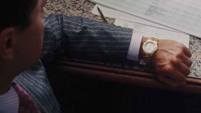 The Tag Heuer Series 1000 Gold of Jordan Belfort (Leonardo DiCaprio) in The wolf of Wall Street